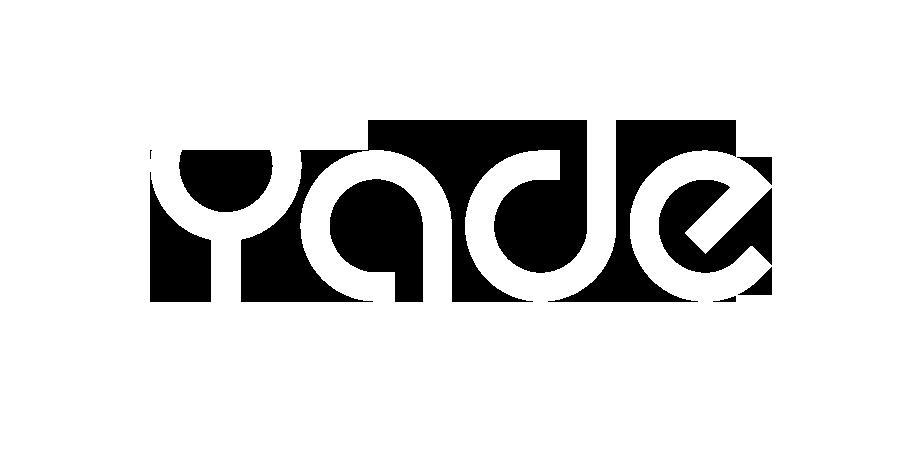 Yade logo valkoinen